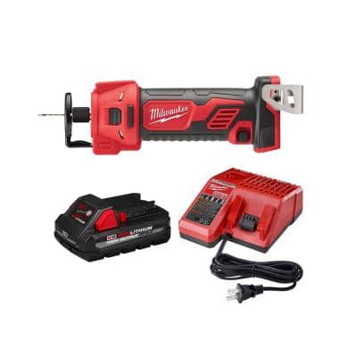 M18 18-Volt Lithium-Ion Cordless Drywall Cut Out Tool with 3.0 Ah Battery and Charger