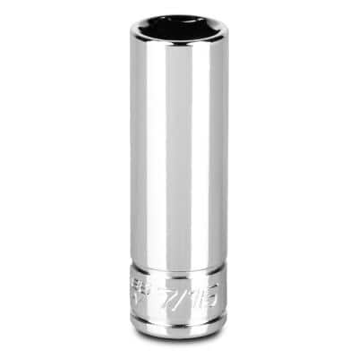 1/4 in. Drive 7/16 in. 6-Point SAE Deep Socket