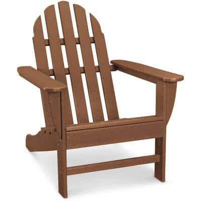 Classic All-Weather Plastic Adirondack Chair in Teak