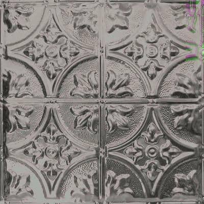 Pattern #2 in Unfinished 2 ft. x 2 ft. Nail Up Tin Ceiling Tile (20 sq. ft./Case)