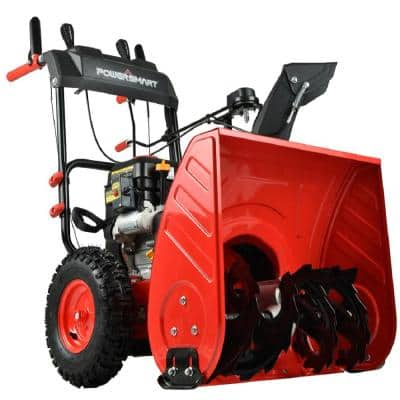 26 in. Two Stage Electric Start Gas Snow Blower with LED Light