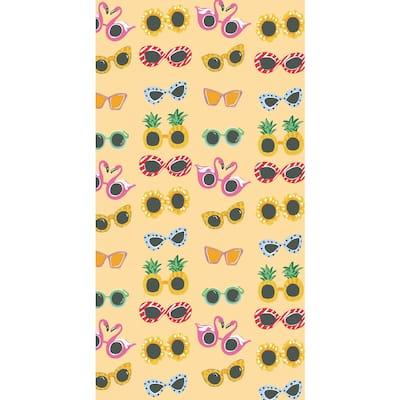 Rong Rong 100% Cotton Beach Towel Sunglasses