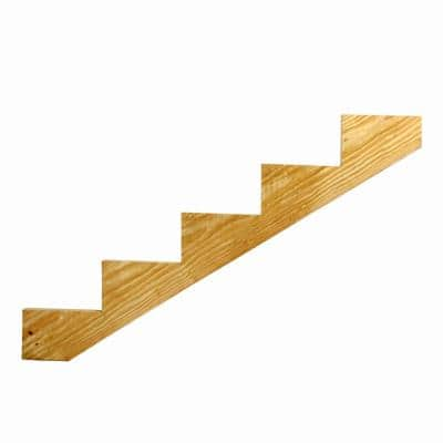 5-Step Ground Contact Pressure Treated Pine Stair Stringer