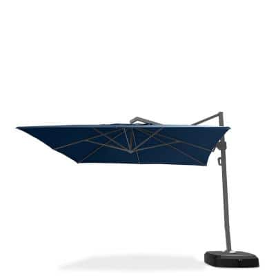 Portofino Commercial 12 ft. Aluminum Cantilever Patio Umbrella in Laguna Blue