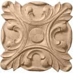5 in. x 3/4 in. x 5 in. Unfinished Wood Maple Acanthus Rosette