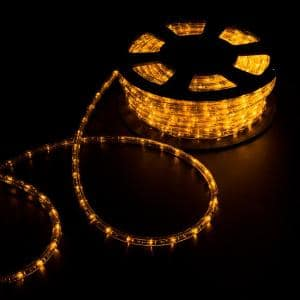 Outdoor 100 ft. 110-Volt Plug-In Yellow Color Changing Light LED Rope Light