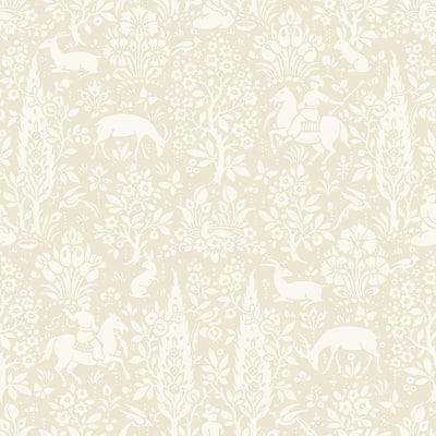 Sherwood Cream Woodland Peelable Wallpaper (Covers 56.4 sq. ft.)