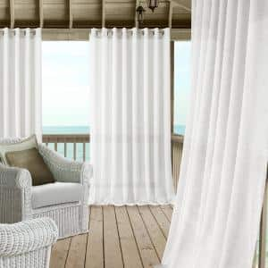 White Extra Wide Grommet Sheer Curtain - 114 in. W x 95 in. L