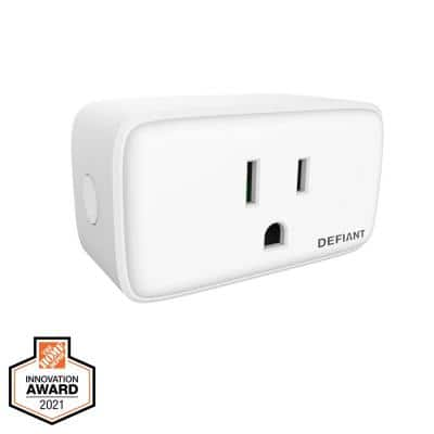 15 Amp 120-Volt Smart Wi-Fi Bluetooth Plug with 1 Outlet