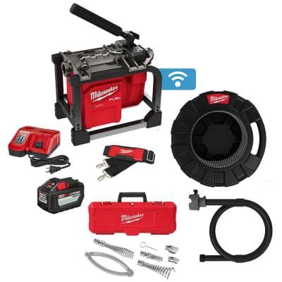 M18 FUEL Cordless Drain Cleaning Sewer Sectional Machine Kit with 5/8 in. Cable with Attachments