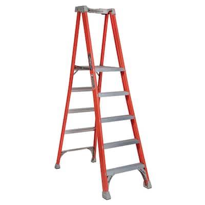 5 ft. Fiberglass Pinnacle Platform Ladder with 300 lbs. Load Capacity Type IA Duty Rating