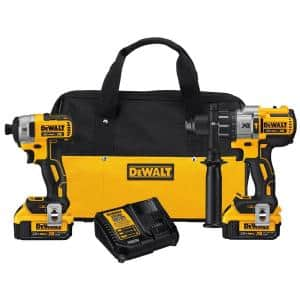 20-Volt MAX XR Cordless Brushless Hammer Drill/Impact Combo Kit (2-Tool) with (2) 20-Volt 4.0Ah Batteries & Charger