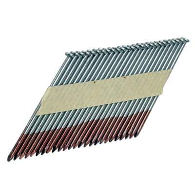 0.131 in. x 3-1/4 in. 34-Degree Paper Collated Brite Smooth Shank Clipped Head Framing Nails (2000-Count)