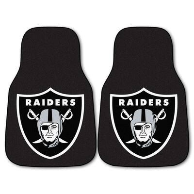 NFL - Las Vegas Raiders 18 in. x 27 in. 2-Piece Carpeted Car Mat Set