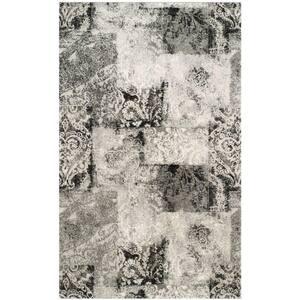 Retro Cream/Grey 9 ft. x 12 ft. Area Rug