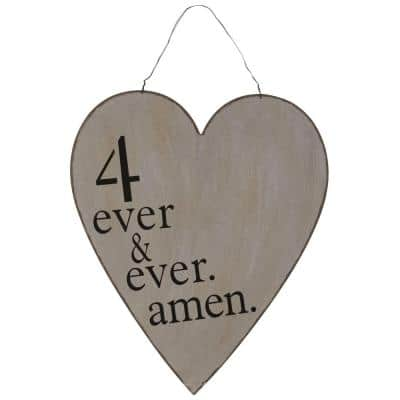 27.5 in. H x 18 in. W 4 Ever and Ever Amen Wall Art