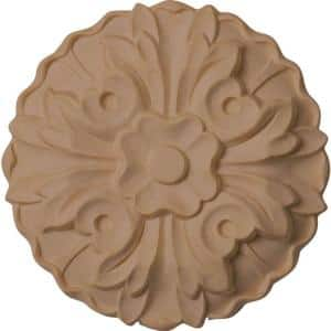 5/8 in. x 3-5/8 in. x 3-5/8 in. Unfinished Wood Maple Kent Rosette
