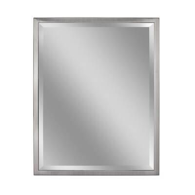 Stainless Steel Bathroom Mirrors, Brushed Steel Bathroom Mirror