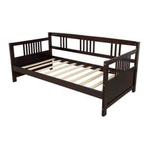 Esprsso Twin Size Modern Solid Wood Daybed