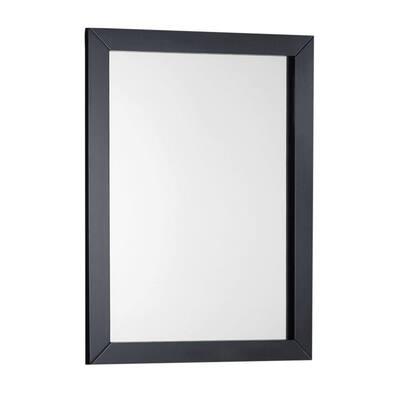 Winston 22 in. W x 30 in. H Framed Rectangular Bathroom Vanity Mirror in Black painted finish
