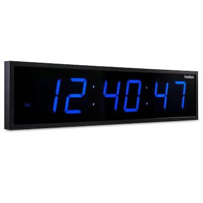 Jumbo Digital LED Clock - Blue (24 in.)