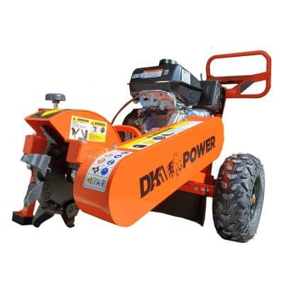 12 in. 14 HP Gas Powered Certified Commercial Stump Grinder with 9 High Speed HPDC Machined Carbide Cutters