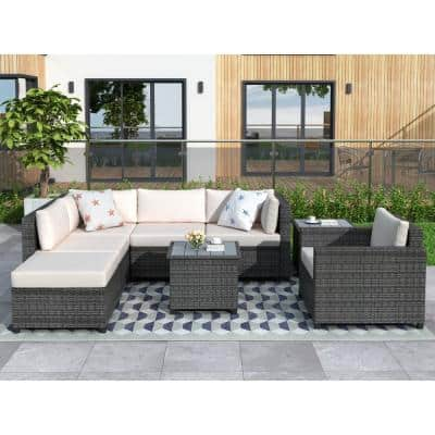 Removable Cushions Outdoor Sectionals, Burruss Patio Sectional With Cushions Canada