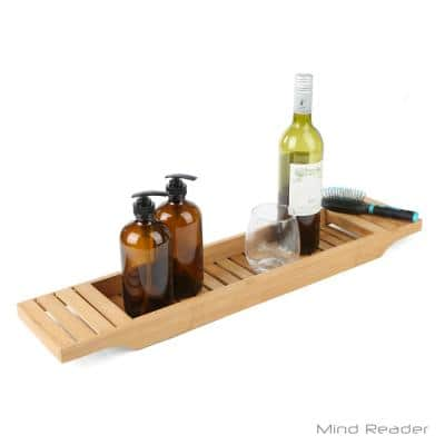 Freestanding Bathtub Caddy Tray in Bamboo