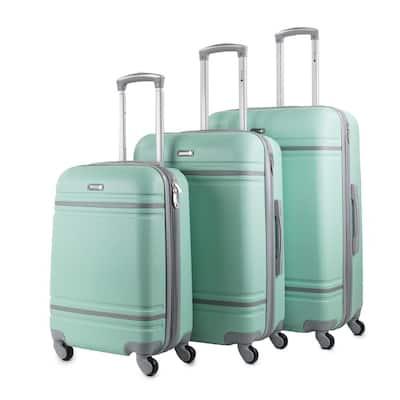 Varsity 3-Piece Mint/Grey Expandable Hardside Spinner Luggage Set