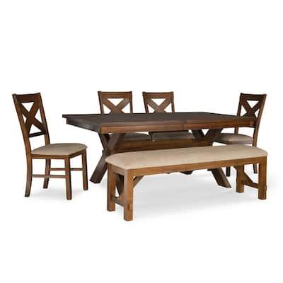 Irondale Dark Hazelnut Brown Dining Set (6-Piece)