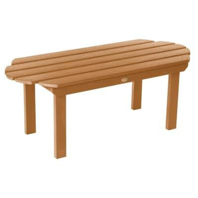 Classic Westport Toffee Rectangular Recycled Plastic Outdoor Coffee Table