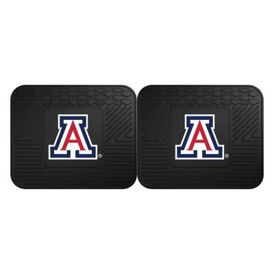 NCAA University of Arizona Black Heavy Duty 2-Piece 14 in. x 17 in. Vinyl Utility Mat