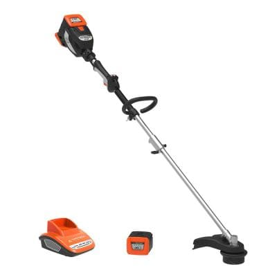 60-Volt Cordless Lithium-ion 16 in. Electric String Trimmer with Battery and Fast Charger Included
