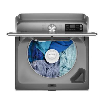 5.2 cu. ft. Smart Capable Metallic Slate Top Load Washing Machine with Agitator and Extra Power Button, ENERGY STAR