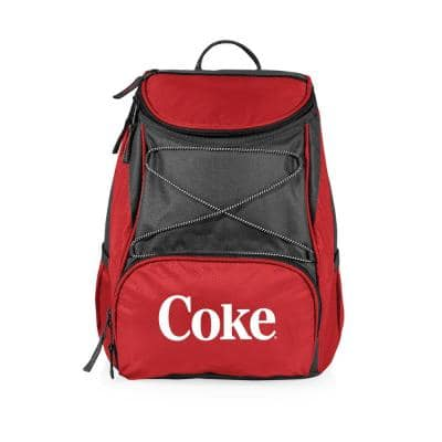 7.5 Qt. 20-Can Coke Coca-Cola PTX Backpack Cooler in Red