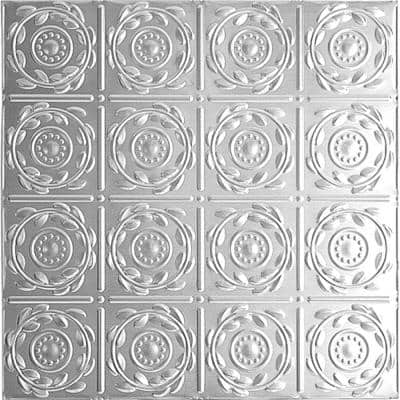 2 ft. x 4 ft. Nail Up Tin Ceiling Tile in Clear Lacquer (24 sq. ft./case)