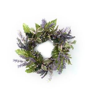 17 in. Artificial Lavender Mini Wreath