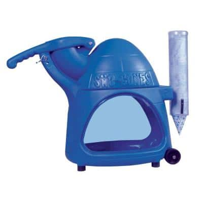 Cooler 8000 oz. Blue Countertop Snow Cone Machine