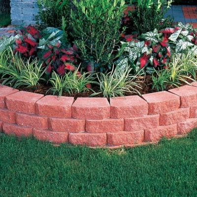 4 in. x 11.75 in. x 6.75 in. River Red Concrete Retaining Wall Block
