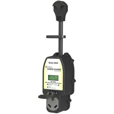 Full Protection Portable Surge Guard with LCD Display - 30A, 120-Volt