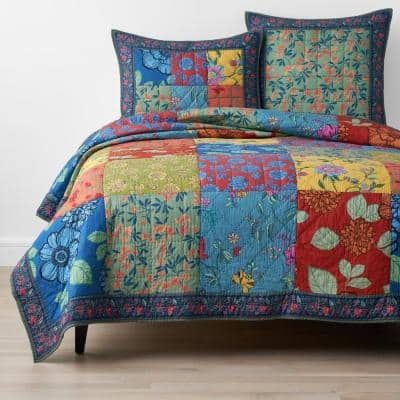 Mariposa Handcrafted Multicolored Cotton Sham