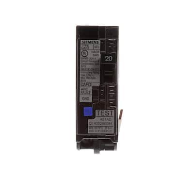 20 Amp 1 in. Single-Pole Combination AFCI Circuit Breaker