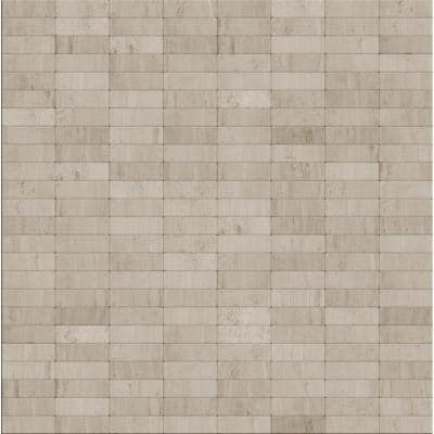 Hare Natural Mixed White/Gray 4 in. x 4 in. Stone Self-Adhesive Wall Mosaic Tile Sample (0.11 sq. ft./Each)