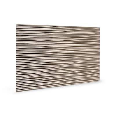 18.5'' x 24.3'' Wilderness Decorative 3D PVC Backsplash Panels in Brushed Nickel 6-Pieces
