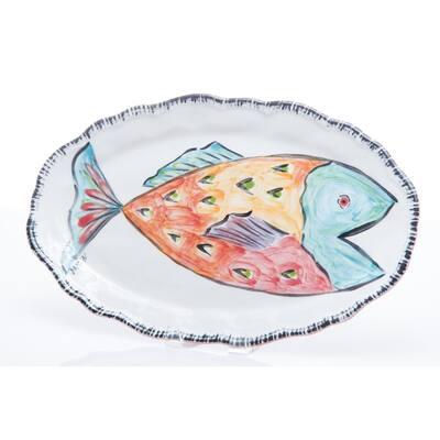 Napoli Red Fish Ceramic Platter