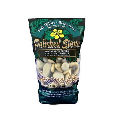 5 lb. White Polished Stone