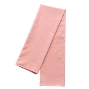 Deerlux 52 in. x 52 in. Square Reds/Pinks Solid Color 100% Pure Linen Washable Tablecloth