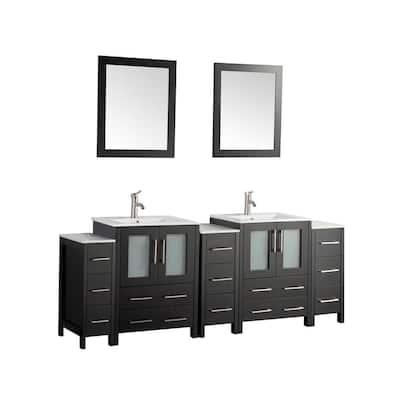 72 Inch Vanities And Larger Black Bathroom Vanities Bath The Home Depot