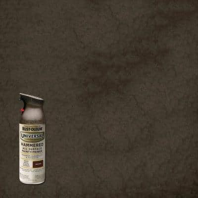 11 oz. All Surface Hammered Brown Spray Paint and Primer in One