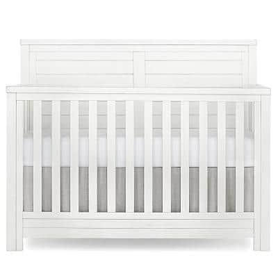 Belmar Weathered White Flat 5 in 1 Convertible Crib